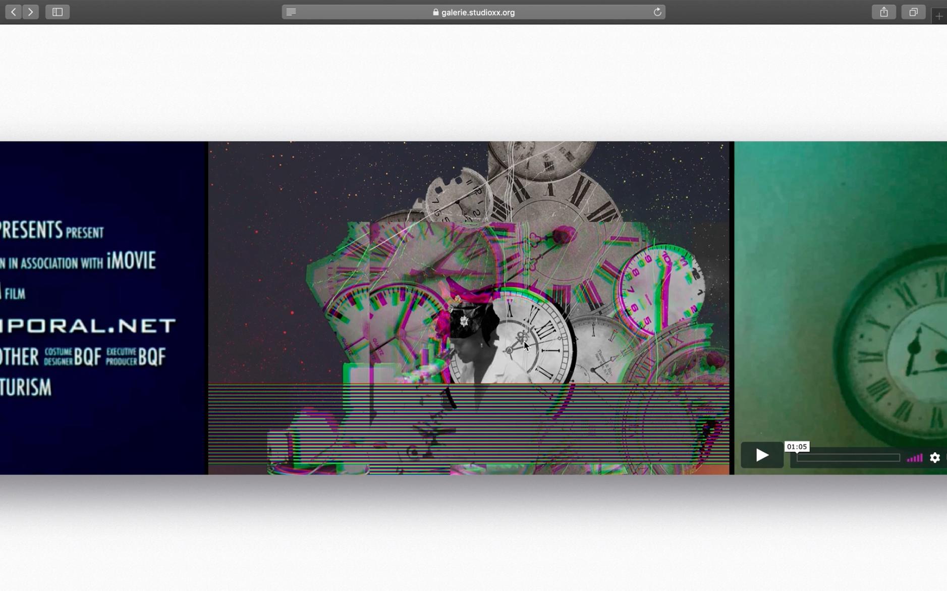 Capture d'écran de l'exposition en ligne Quelques ellipses.